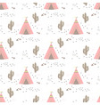 pattern with teepees vector image