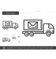 post car line icon vector image vector image