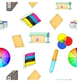 Print pattern cartoon style vector image vector image