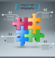 puzzle logo business infographics vector image vector image