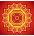 Red ornate flowers lacy circle pattern vector image vector image