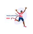 running athlete runner vector image vector image