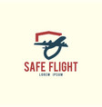 safe flight logo template vector image