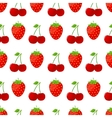 Seamless pattern with strawberries and cherries vector image vector image
