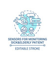 sensors for monitoring sick and elderly patients vector image