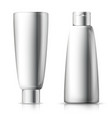 set - 3d realistic shampoo bottles vector image vector image