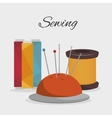 sewing kit isolated icon design vector image