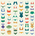 swimming suit seamless pattern vector image