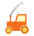 Tractor icon on white vector image