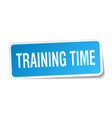 training time square sticker on white vector image vector image