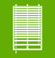 window with wooden jalousie icon green vector image vector image