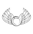 wings emblem isolated icon vector image vector image