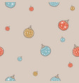 winter seamless pattern with festive ornaments on vector image vector image