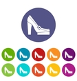 Women shoes on platform set icons vector image vector image