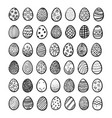 set of eggs for happy easter vector image