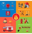 Firefighting inventory concepts vector image