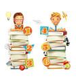 Schoolchildren School infographic elements 3d vector image
