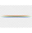 Rainbow icon realistic 6 vector image
