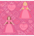 Seamless pattern with princess vector image