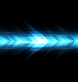 abstract blue light arrow speed power technology vector image vector image
