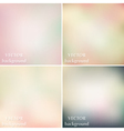 Abstract colorful blurred smooth pastel vector image vector image