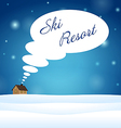 Alone house on snow think about ski resort vector image vector image
