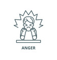 anger line icon outline concept linear