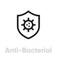 anti-bacterial shield icon editable line