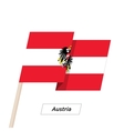 Austria Ribbon Waving Flag Isolated on White vector image