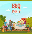 barbecue party poster vector image vector image