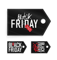 black friday set labels vector image