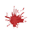 blood stain splash of red ink vector image vector image
