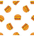 burger or fast food cartoon seamless vector image
