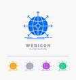 business global international network web 5 color vector image