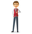 businessman thumbs down angry unhappy man vector image vector image