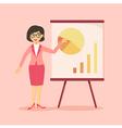 Businesswoman Presentation Chart Pink vector image vector image