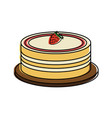 cake pastry related icon image vector image vector image
