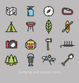 Camping and outdoor icon colorful vector image