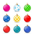 christmas balls set isolated on white background vector image