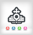 city map icon vector image