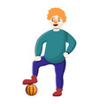 clown with ball icon cartoon style vector image vector image