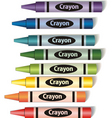 colorful crayons vector image vector image
