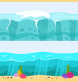 cross section of sea water ecology natural vector image