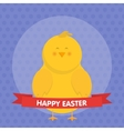 cute easter chick isolated vector image