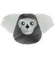 drawing black bearded saki animal brazil vector image vector image