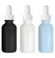 dropper bottle cosmetic serum glass bottles mock vector image vector image