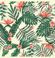 exotic tropical seamless pattern background vector image vector image