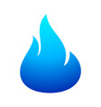 fire flame blue icon vector image vector image