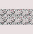 flower seamless pattern paisley indian design vector image vector image