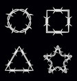 four different geometric shape silhouette of vector image vector image